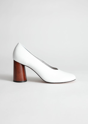 And other stories Leather Wooden Heel Pumps