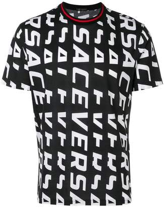 Versace logo print all over T-shirt