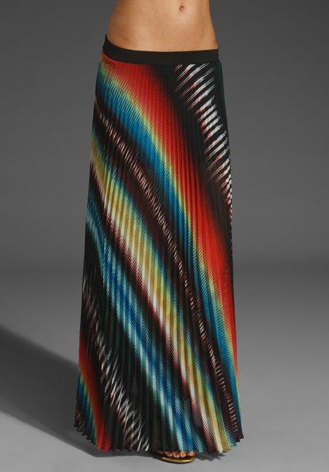 Monrow Pleated Maxi Skirt