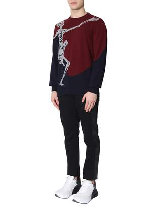 Alexander McQueen Sweater With Dancing Skeleton Print