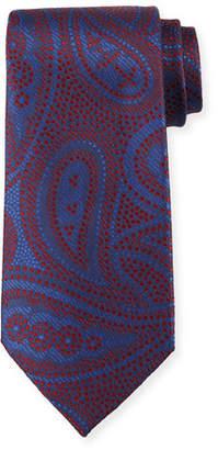 Giorgio Armani Paisley Silk Tie, Red/Blue