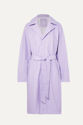 Rains Matte-pu Trench Coat - Lilac