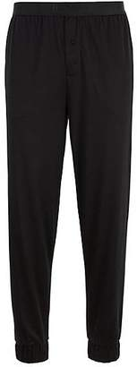 HUGO BOSS Cuffed pyjama bottoms in a cotton-modal blend