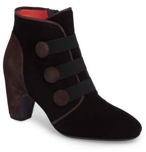 Pas De Rouge Button Detail Bootie