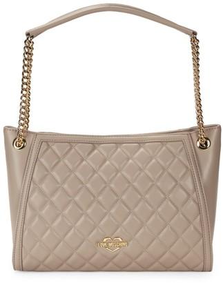 Love Moschino Quilted Leather Chain-Strap Tote
