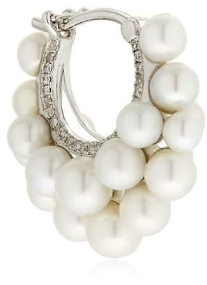 Mini Pearls Hoop Mono Earring