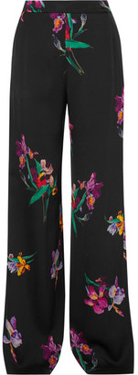Etro - Printed Satin-crepe Wide-leg Pants - Black $860 thestylecure.com
