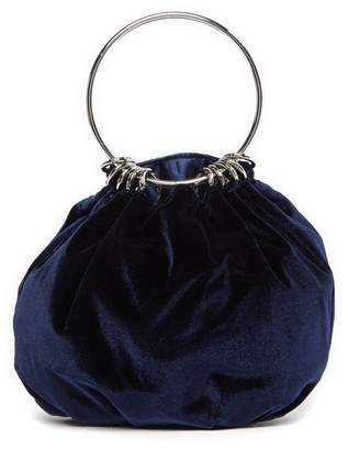 Jessica McClintock Velvet Ring Evening Bag