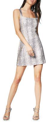 Ramy Brook Adrian Sequin Snake-Print Mini Dress