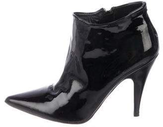 Pedro Garcia Patent Leather Ankle Boots Black Patent Leather Ankle Boots