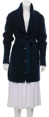 MM6 MAISON MARGIELA Mohair-Blend Tie-Accented Cardigan