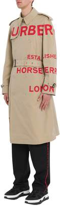 Burberry Contrast Lettering Trench