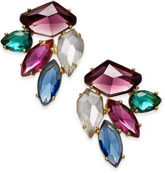 Kate Spade Gold-Tone Multi-Crystal Cluster Stud Earrings