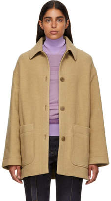 Acne Studios Brown Four-Button Coat