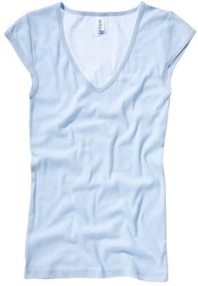 B.ella Bella+Canvas Sheer mini rib v-neck t-shirt M