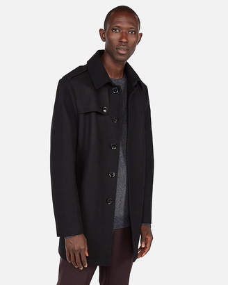 Express Recycled Wool Water-Resistant Trench Coat