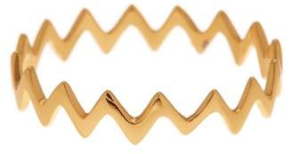 Argentovivo 18K Gold Plated Sterling Silver Zig Zag Ring
