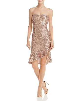 Aidan Mattox Strapless Sequined Dress