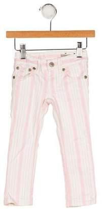 Ralph Lauren Girls' Stripe Five Pocket Jeans