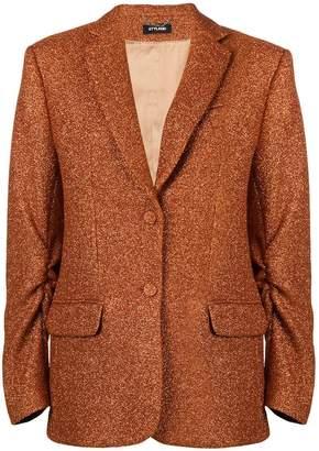 Styland oversized glittered crepe blazer