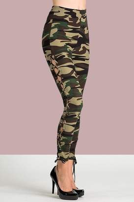 People Outfitter Camo Lace-Up Pants
