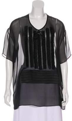 Alexander Wang Silk Chiffon Blouse Black Silk Chiffon Blouse