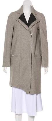 Helmut Lang Wool-Blend Knee-Length Coat