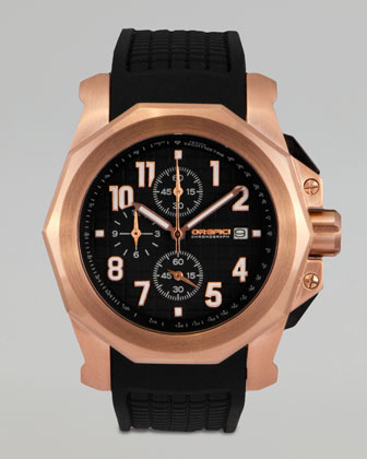 Orefici Watches Galante Rubber-Strap Chronograph Watch