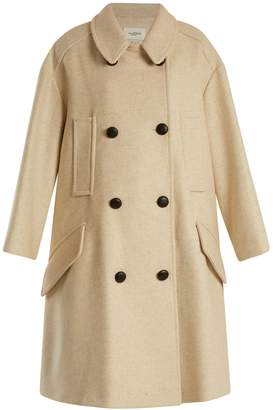 ISABEL MARANT ÉTOILE Flicka double-breasted wool-blend coat $690 thestylecure.com