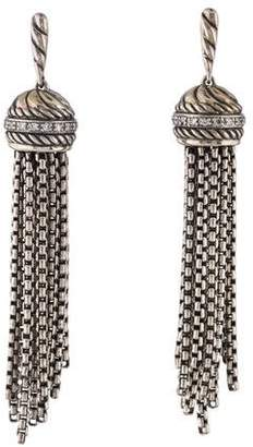 David Yurman Diamond Tassel Earrings