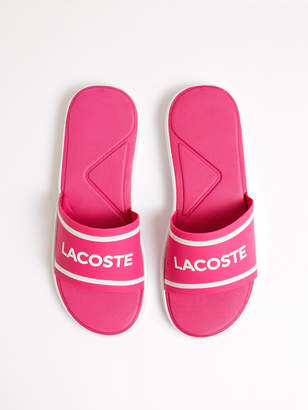 Lacoste Womens L.30 Slides in Bright Pink