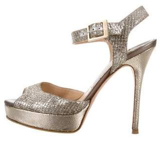 Jimmy Choo Linda Glitter Sandals