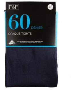 F&F 3 Pack Of 60 Denier Temperature Control Opaque Tights