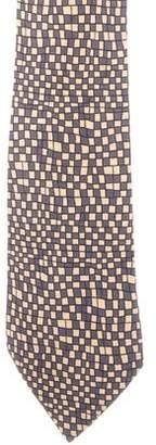 Hermes Silk Check Print Tie