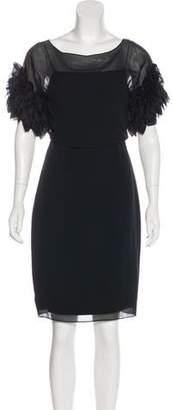 Marchesa Silk Knee-Length Dress
