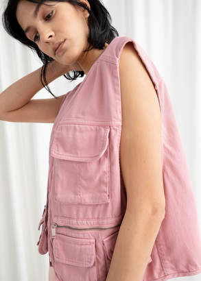 And other stories Cotton Blend Workwear Vest