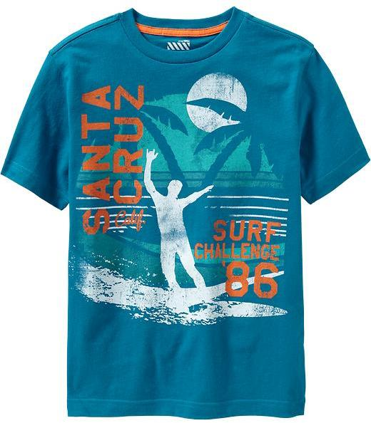 Old Navy Boys Surf-Graphic Tees