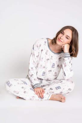 PJ Salvage Pawfection Print Long Sleeve Pajamas