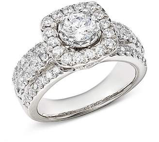 Bloomingdale's Diamond Halo Engagement Ring in 14K White Gold, 1.45 ct. t.w. - 100% Exclusive