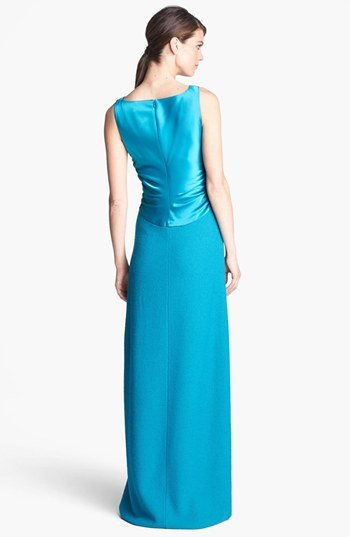 St. John Sequin Accent Bouclé Knit Gown