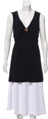 Karla Colletto Embellished Sleeveless Tunic Top