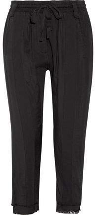 Frayed Cotton-Twill Track Pants