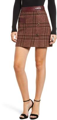 Moon River Plaid Miniskirt