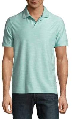 Black & Brown Black Brown Heathered Short-Sleeve Polo Shirt