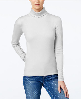 Planet Gold Juniors' Ribbed Turtleneck Top $24 thestylecure.com
