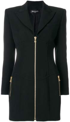 Balmain zipped jacket dress