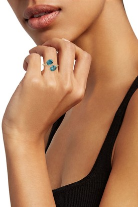Judith Ripka London Blue Spinel & White Topaz Ring