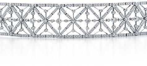 Intricate geometric diamond bracelet