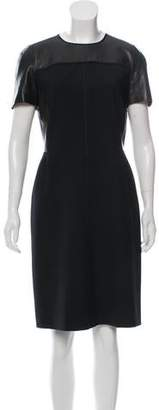 Reed Krakoff Wool & Leather Dress