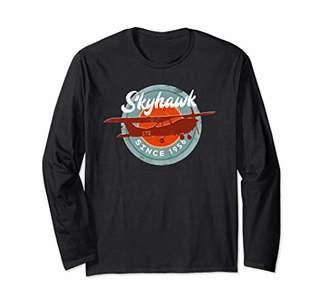 C172 Skyhawk Vintage Retro Airplane Flying Pilot Gift Long Sleeve T-Shirt